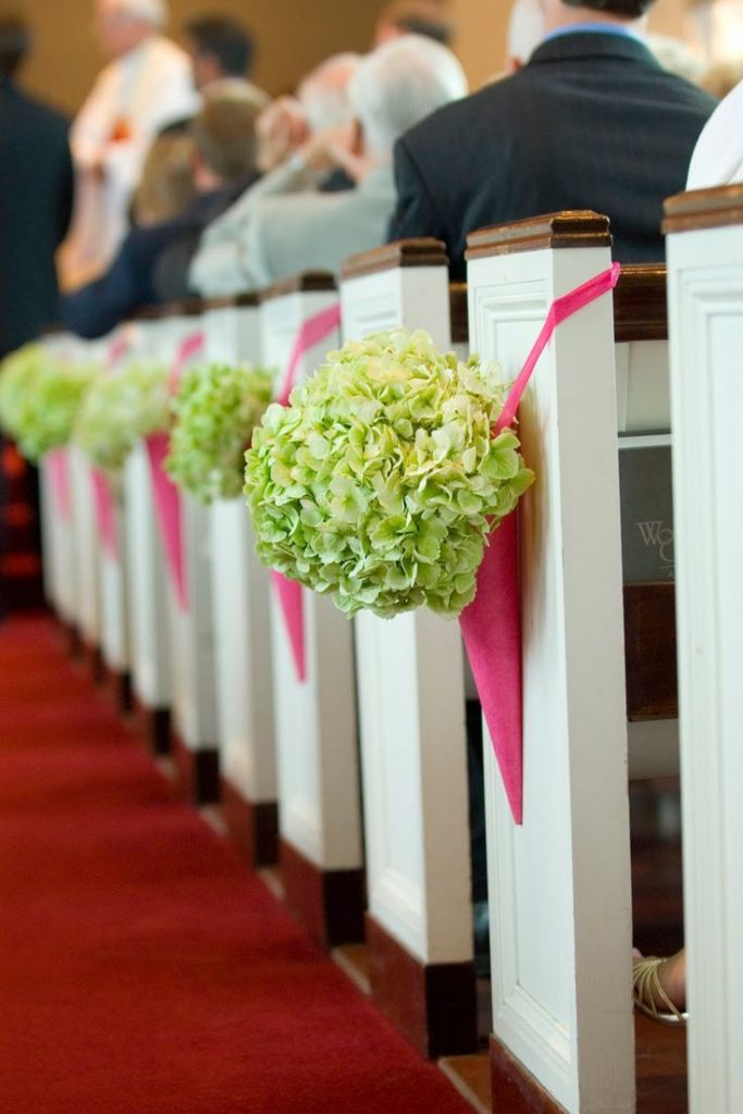 Wedding Church Pew Flowers
