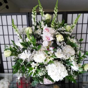 White Funeral Urn